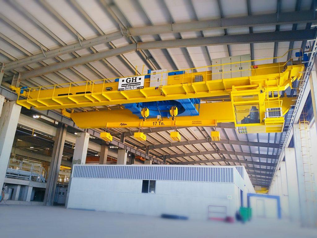 Pont roulant rotatif 2x16 Tonnes + 5 T